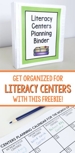 Get this FREE self-assessment form for literacy centers in the blog post!