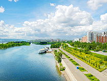 Embankment along the Yenisei River in Krasnoyarsk