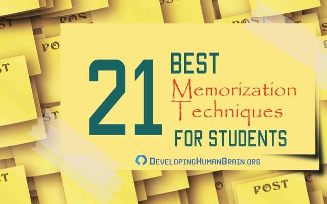 memorization techniques for students