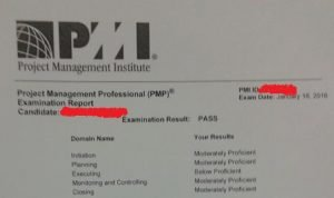 pmp certification passing score