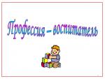История профессии воспитатель детского сада – — , !